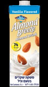 משקה שקדים Almond Breeze בטעם וניל